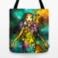 Life, Spirit, Name Tote Bag by Mandie Manzano