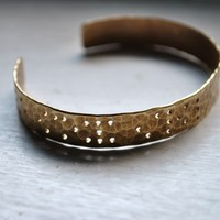 LOVE YOUR CHAOS - braille engraved cuff