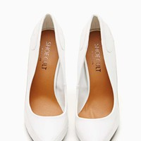 Shoe Cult Fated Pump - White