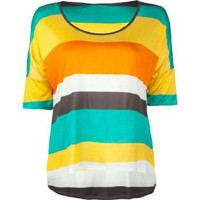 FULL TILT Stripe Boxy Womens Top