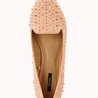 Total Stud Faux Suede Loafers | FOREVER 21 - 2059415047