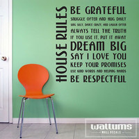 House Rules Vinyl Wall Art Decal Sticker by WallumsWallDecals
