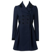 Rhianna Velvet Trim Coat - Forever New