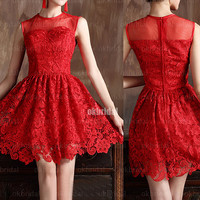 lace prom dresses, red prom dresses, prom dresses on sale, prom dresses 2014, sexy prom dresses, cheap prom dresses, RE360