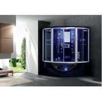 Jacuzzi Whirlpool Bathtub Shower Steam Sauna Computerized Massage Jets SPA TV Phone Black