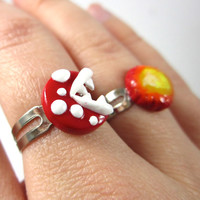 Piranha Plant inspired ring