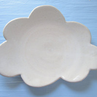 white cloud dessert plate - 9 inches