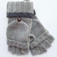 Fingerless Mittens - Grey