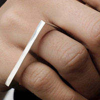 Linhardt bar ring silver