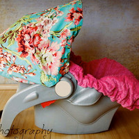Infant Car Seat Cover Baby Car Seat Cover in Bliss by ChubbyBaby