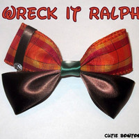 Wreck it Ralph Hair Bow Disney Inspired limited by bulldogsenior08