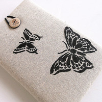 Butterfly Ipad mini case, Ipad mini cover, Ipad mini sleeve-Hand painted.