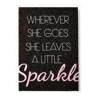 Wherever She Goes She Leaves A Little Sparkle Wall Canvas  | Icing