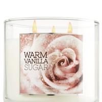 Warm Vanilla Sugar 14.5 oz. 3-Wick Candle   - Slatkin & Co. - Bath & Body Works