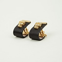 Alexander McQueen Men's Leather Skull Cufflinks