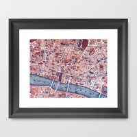 City of London Framed Art Print by Ally Coxon