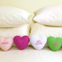 Mini Candy Heart Pillows - Set of 6: The Spoon Sisters