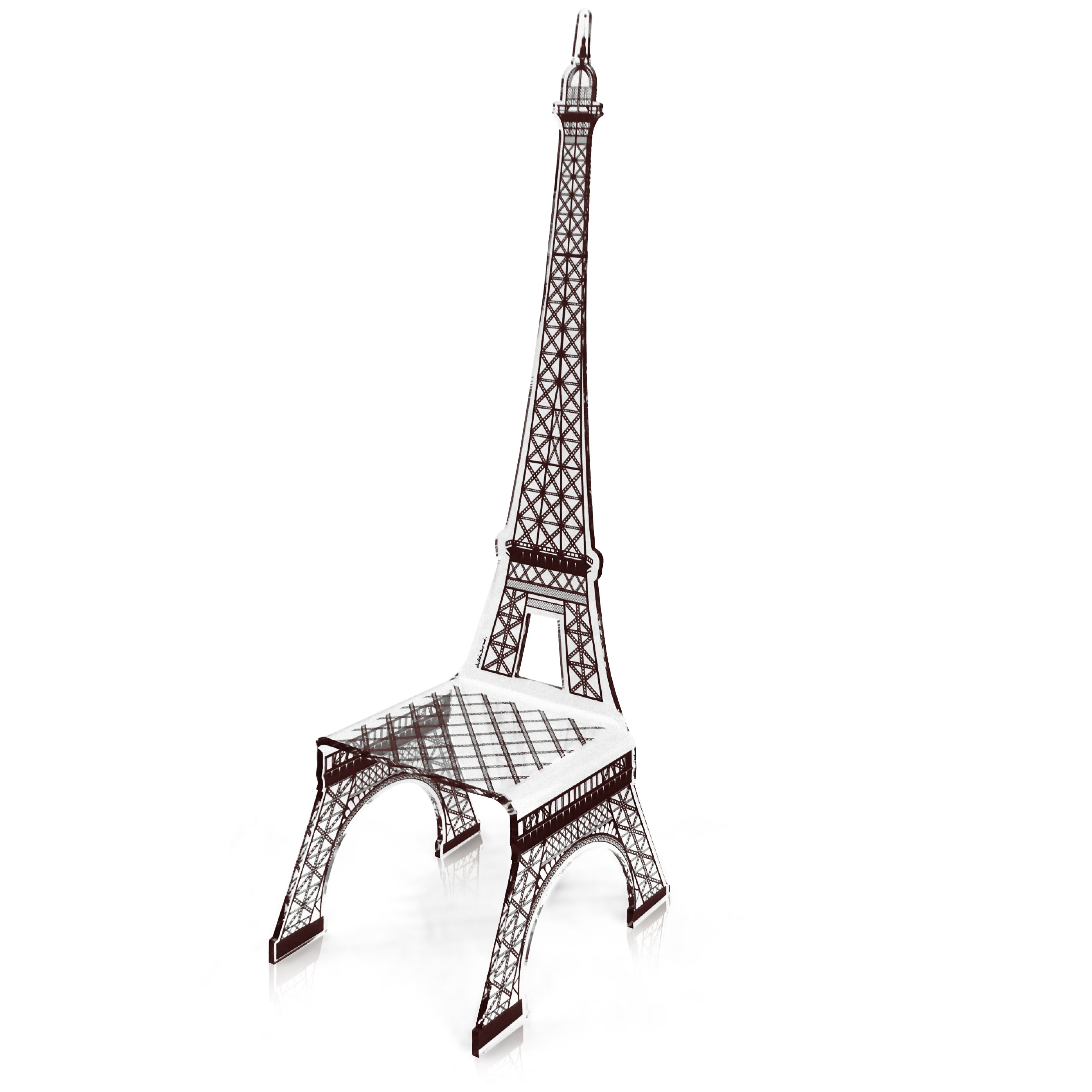 Eiffel Tower Chair   Acrylic Furniture   from SWEETPEA  amp  WILLOW