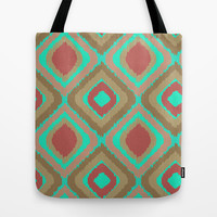 VINTAGE IKAT Tote Bag by Nika