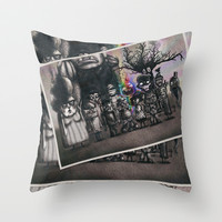 Ms. Nebun's Academic Spook Class Photo Throw Pillow by Ben Geiger