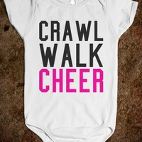 CRAWL WALK CHEER BABY ONE PIECE