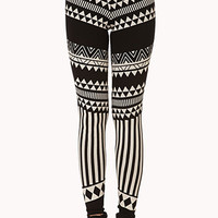 Abstract Tribal Print Leggings | FOREVER 21 - 2000051395