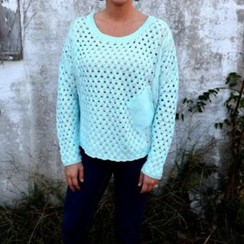 Mint Pocket Sweater