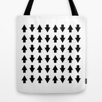 Arrows Black Tote Bag by Project M