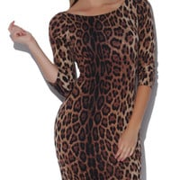 Leopard Knit Crossback Mini Dress | Shop Animal at Arden B