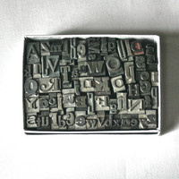 Letterpress Alphabet in a Box for Altered Art Printing Stamping Mixed Media Collage