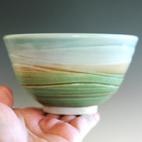Chawan, Tea Bowl, handmade porcelain tea bowl, ceramic and pottery