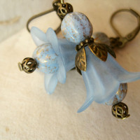 Sky Blue Flower Earrings by PiggleAndPop