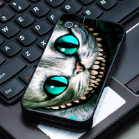 Hard Plastic Case - Alice Wonderland Cheshire Cat - iPhone 4/4s, iPhone 5, iPhone 5s, iPhone 5c, Samsung S2, S3, S4
