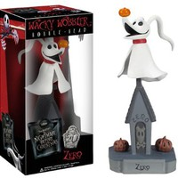 "Zero ~7.3"" Bobble Head Figure: Tim Burton's The Nightmare Before Christmas Wacky Wobbler 20 Years Anniversary Series"