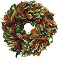 The Well Appointed House by Melissa Hawks. Dried Turkey & Pheasant Wreath-Available in Three Different Sizes