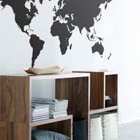 Ferm Living - World Map Wall Sticker