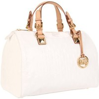 MICHAEL Michael Kors Grayson Satchel,White,One Size