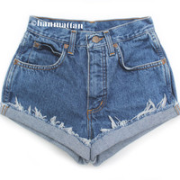 ALL SIZES CLASSIC Vintage highwaisted denim shorts by Hanmattan