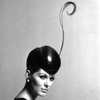 Pillbox Hat with Feather, 1960s Giclee Print by John French at Art.com
