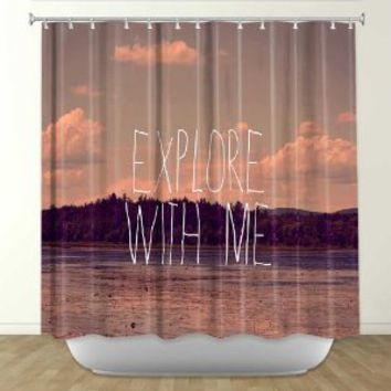 Shower Curtain from DiaNoche Designs by Arist Rachel Burbee Home Décor and Bathroom Ideas - Explore With Me II