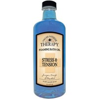 Village Naturals Therapy Liquid Mineral Bath, Stress and Tension, 16 oz.