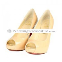 Beautiful Incarnadine Peep-toes with White Attractive Heel Sheep Patent Leather Wedding Shoes [TWeddingSM03300232] - $76.99 : wedding fashion, wedding dress, bridal dresses, wedding shoes