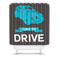 DENY Designs Home Accessories | Naxart I Like To Drive Beetle 3 Shower Curtain