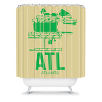 DENY Designs Home Accessories | Naxart ATL Atlanta Poster 1 Shower Curtain
