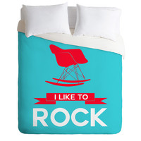 DENY Designs Home Accessories | Naxart I Like To Rock 1 Duvet Cover