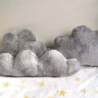 Fluffy Cloud Pillows Set of 3 with Silver Lining