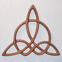 Triquetra of Harmony-Celtic Wood Carved Knot | signsofspirit - Woodworking on ArtFire