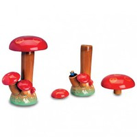 Magic Mushroom Ceramic Stealth Water Pipe - 22cm - Grasscity.com