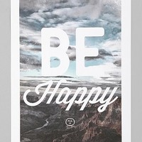 Zach Terrell Be Happy Art Print - Urban Outfitters
