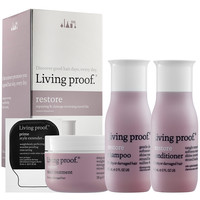 Sephora: Living Proof : Restore Repairing & Damage Reversing Travel Kit : hair-care-sets